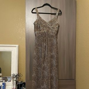 Robbie Bee maxi Dress Cheetah Print